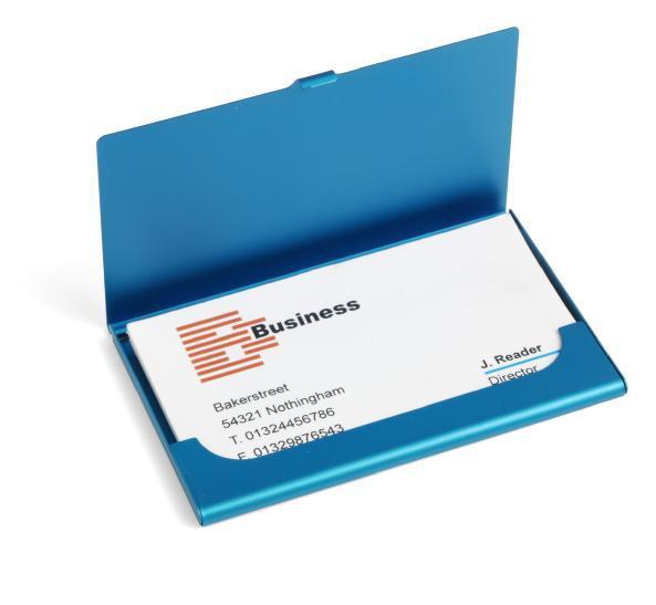 Engraved Metal Business Card Holder