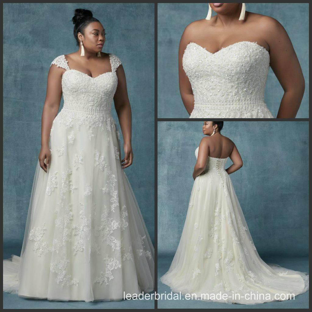 2384263d46c China Custom Plus Size Wedding Dress Lace Tulle Bridal Gown M9032 - China Wedding  Dress