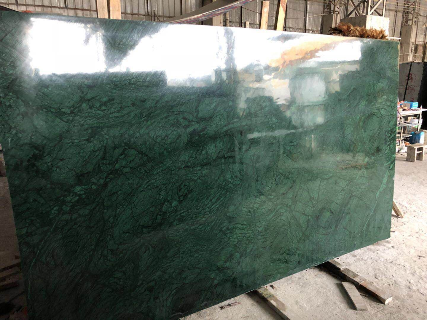China Natural Stone India Green Marble Slabs Tiles For Interior Floor Wall China Vanity Tops Cut To Size