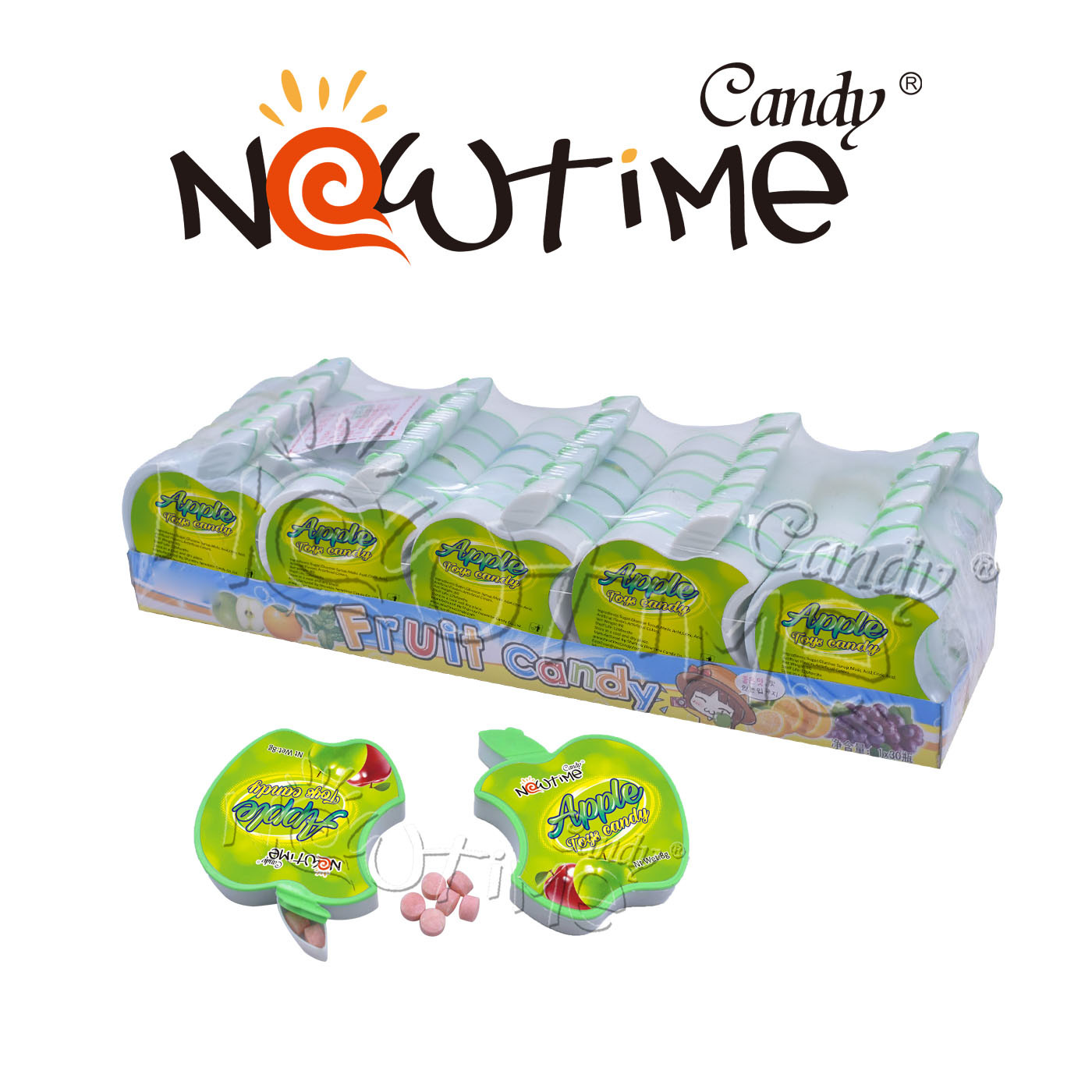 China Ntc18996 Sweet Fruit Mix Colorful Candy In Apple