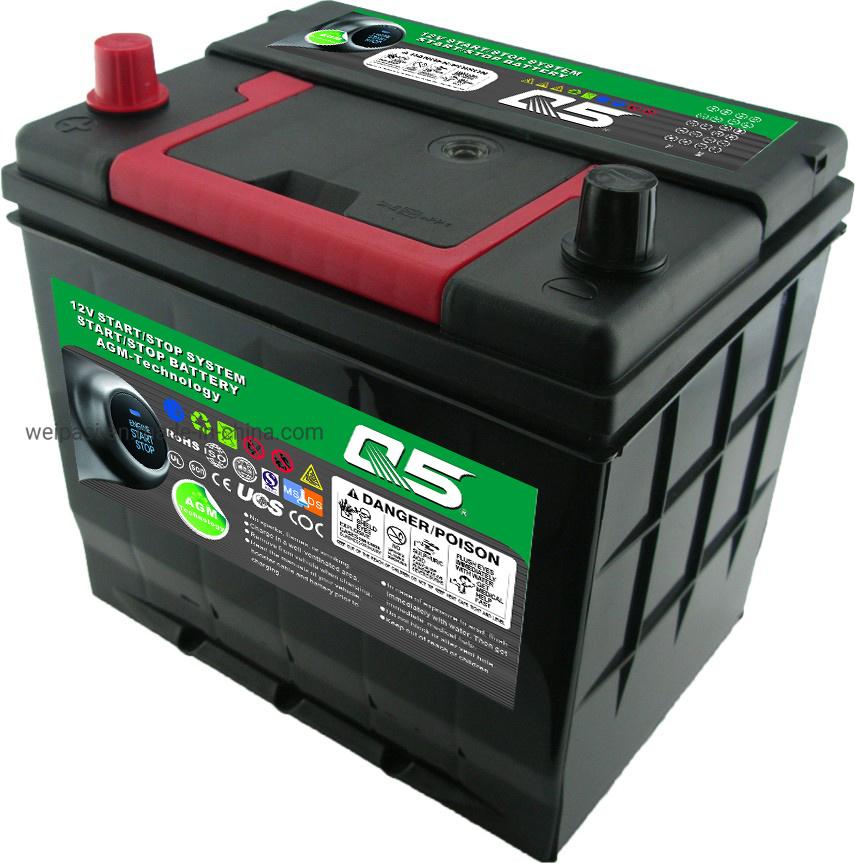 Jis 75d23 12v65ah 100 Start Stop Agm Efb Hyundai Car Battery Maintenance Free 18 Months Warranty
