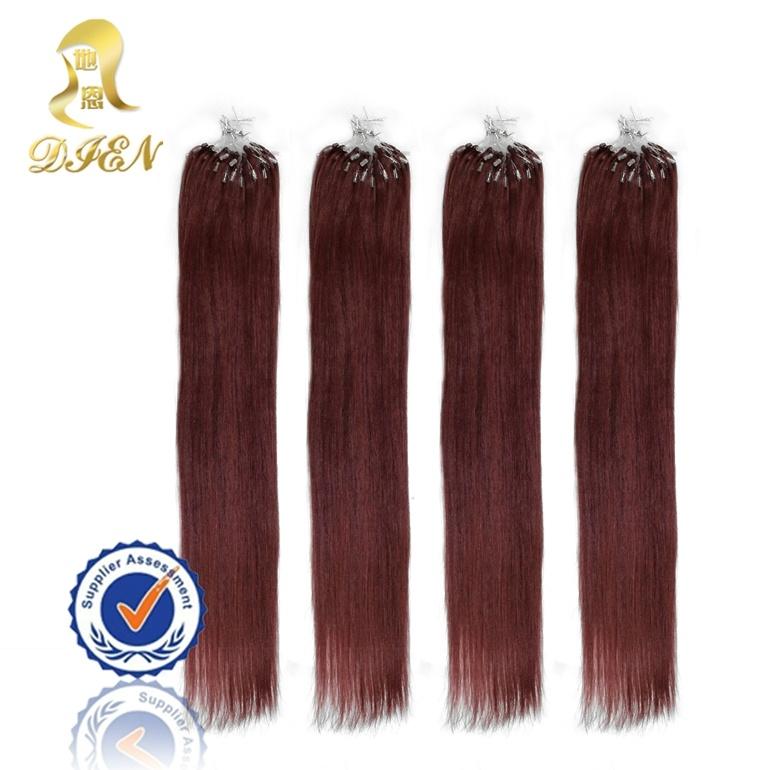 China Indian Remy Human Hair Extension Micro Loop Ring Hairs