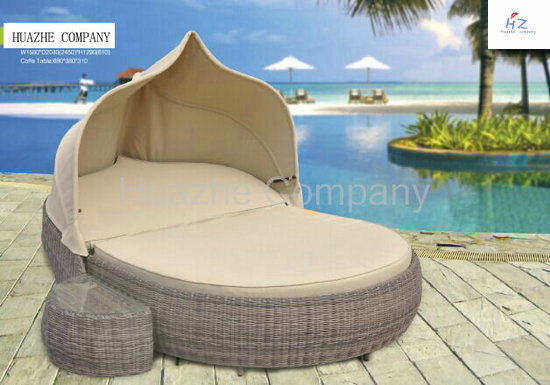 Rattan Lying Bed Outdoor Backyard Wicker Rattan Patio Furniture pictures & photos