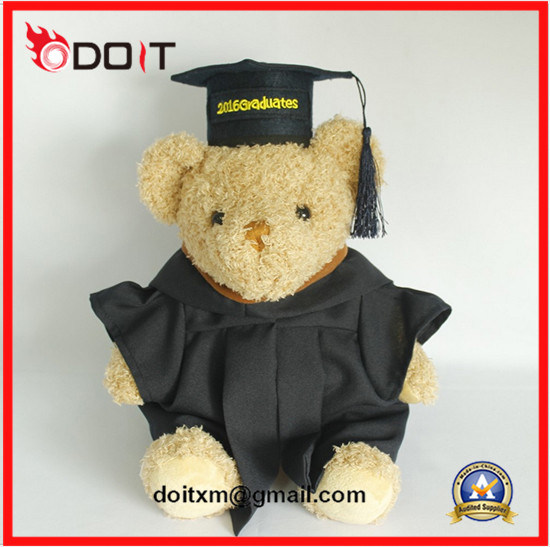 White Plush Stuffed Graduation Bear Graduation Teddy Bear