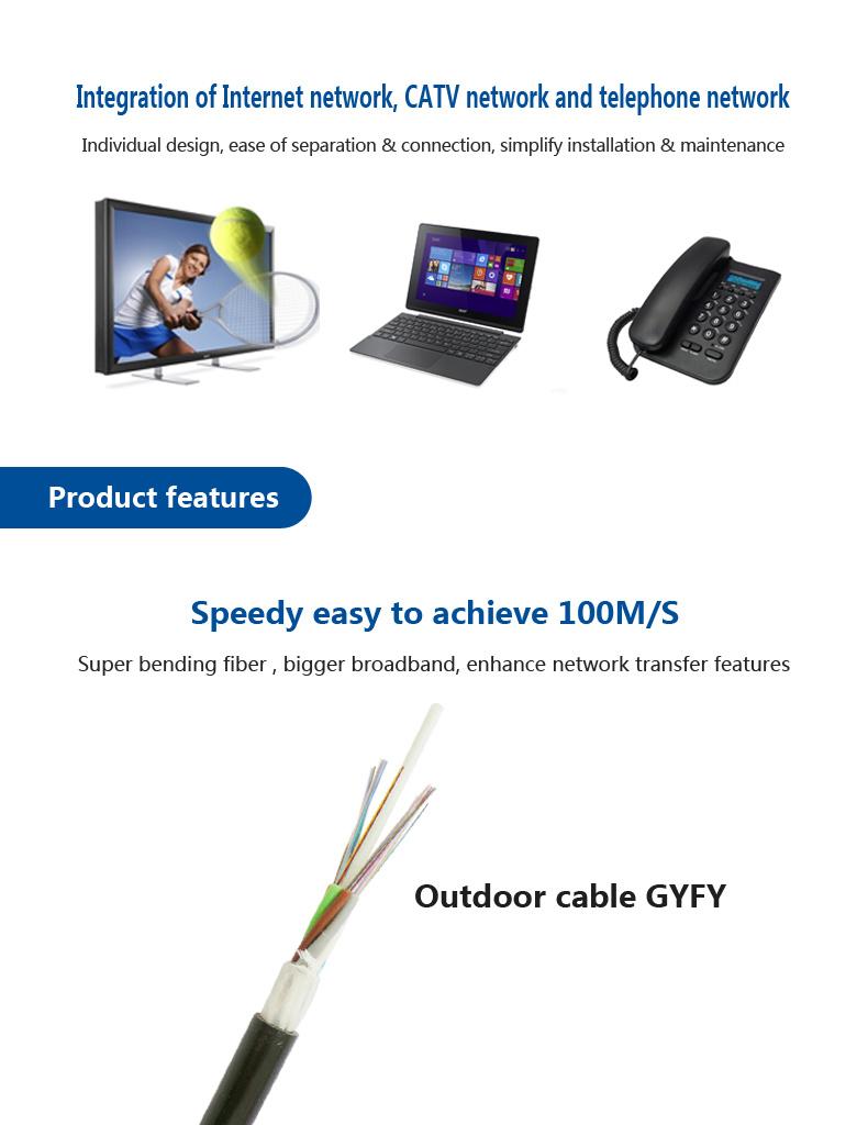 China Non-Metallic Fiber Optic Cable for Outdoor Network Gyfy Photos ...