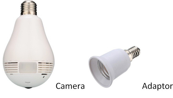 Factory Price 360 Degree CCTV P2p Wireless IP Network Mini Hidden Security Video WiFi Light Bulb Camera with Motion Sensor pictures & photos
