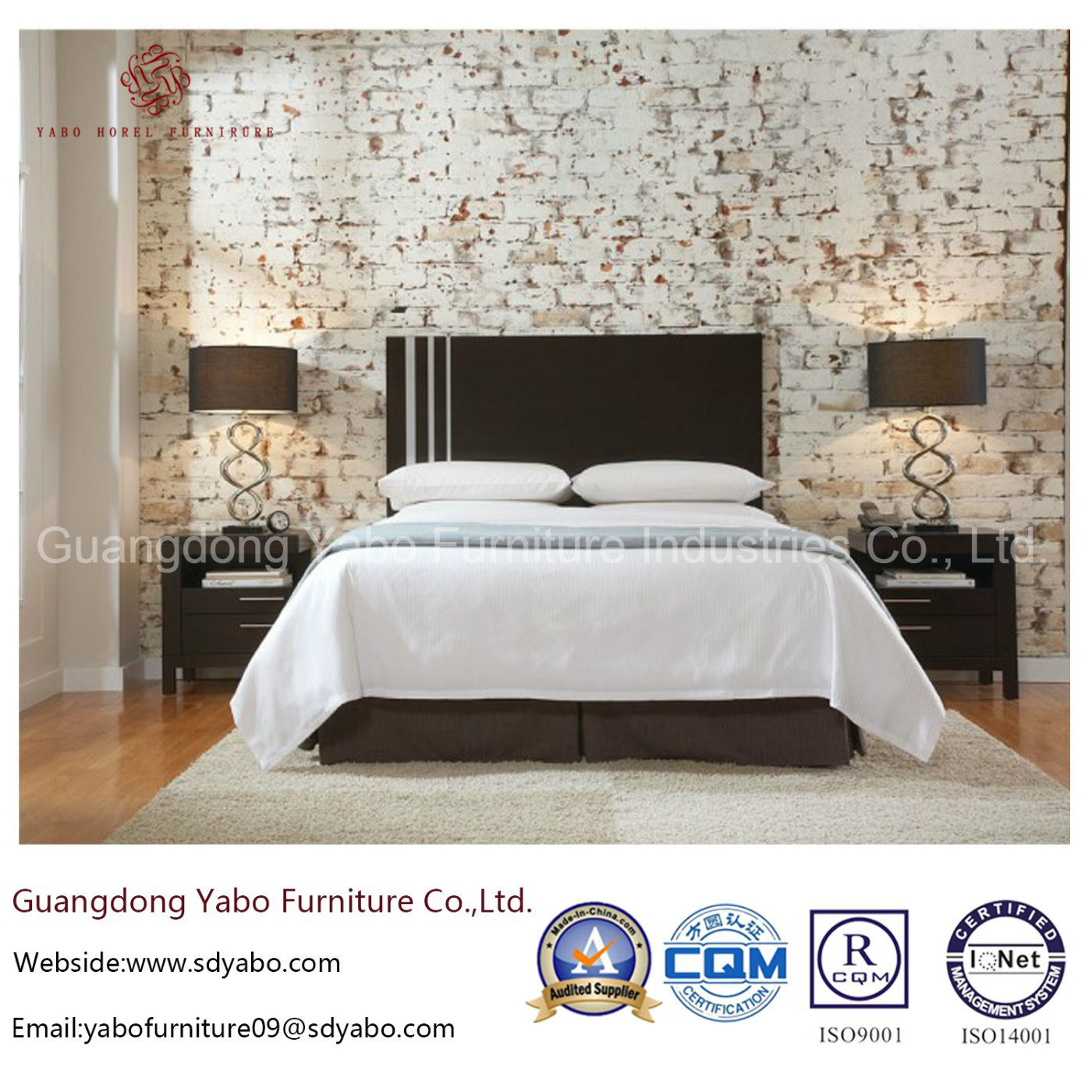 [Hot Item] Bespoke Hotel Furniture with Wooden Bedroom Set (YB-O-12)