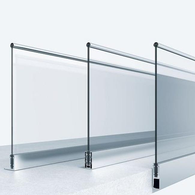 China U Channel Aluminum Frameless Glass Railing for ...