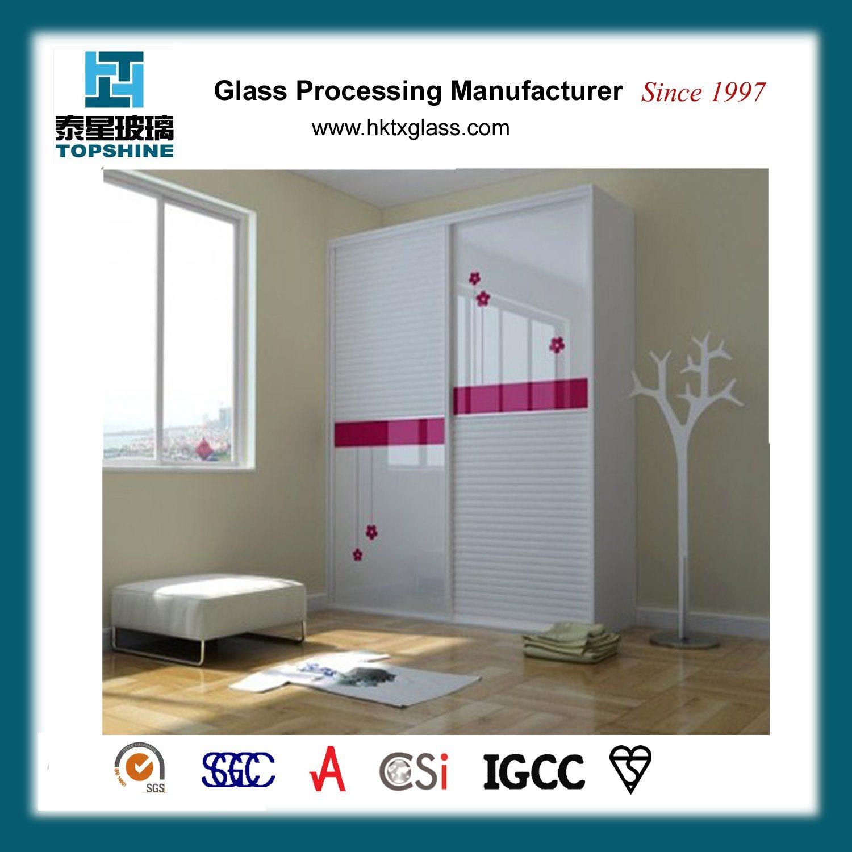 [Hot Item] Customized Design Silk Screen Printing Glass Wardrobe Door for  Bedroom Furniture