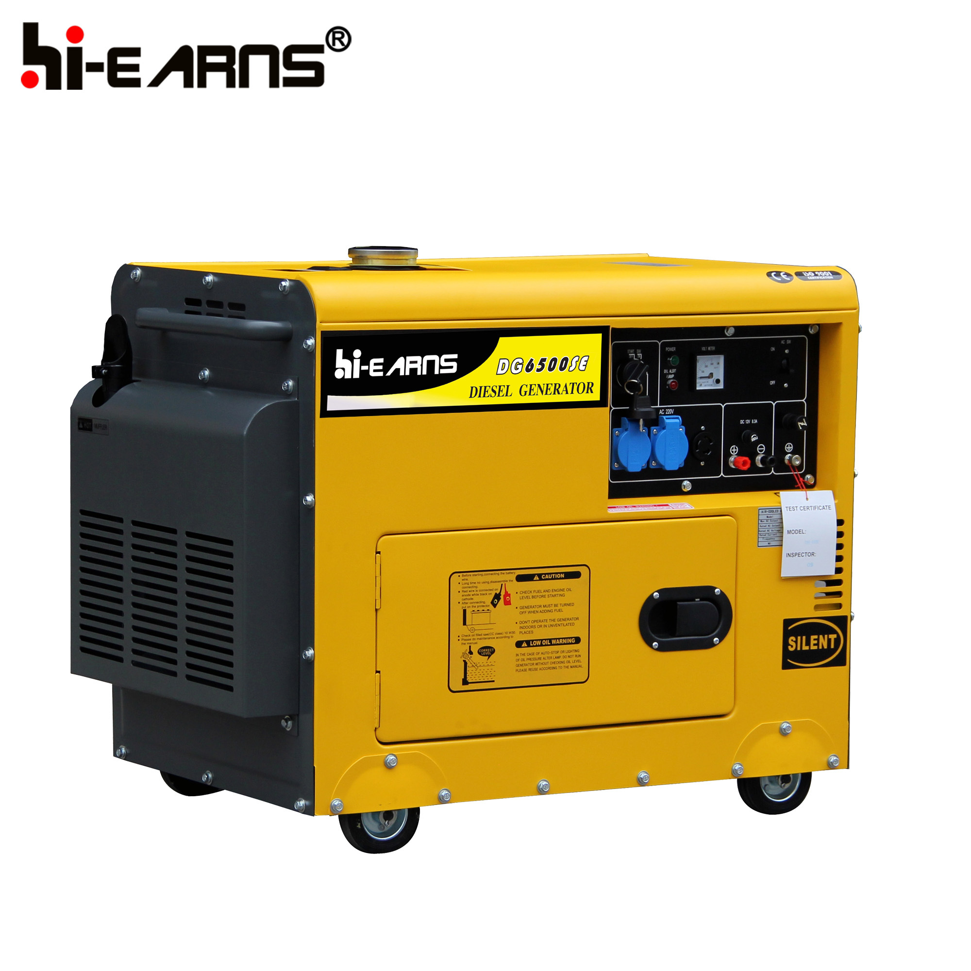 5 kW generator (diesel): technical specifications 46