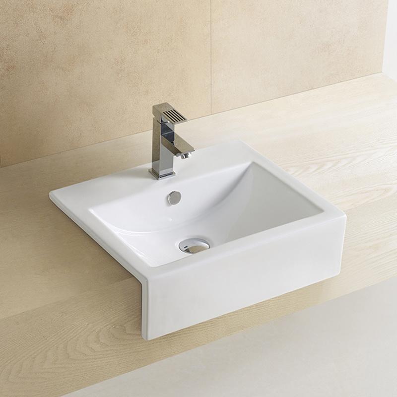 Semi Recessed Wash Basin Bathroom Sink