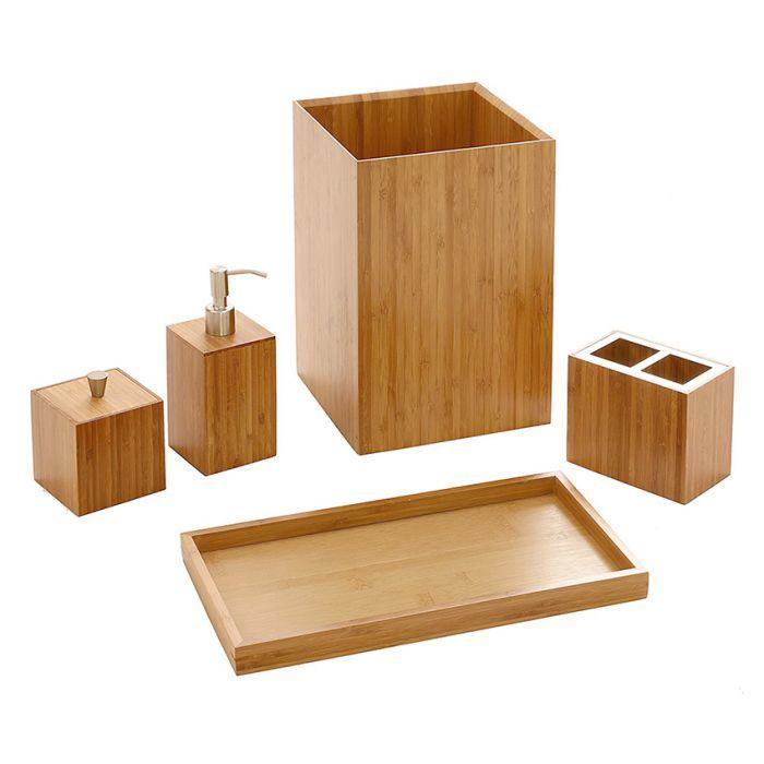 Wooden Bamboo Bath Luxury Set Bathroom