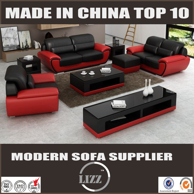 [Hot Item] High Density Foam Leather Sofa Set for Living Room