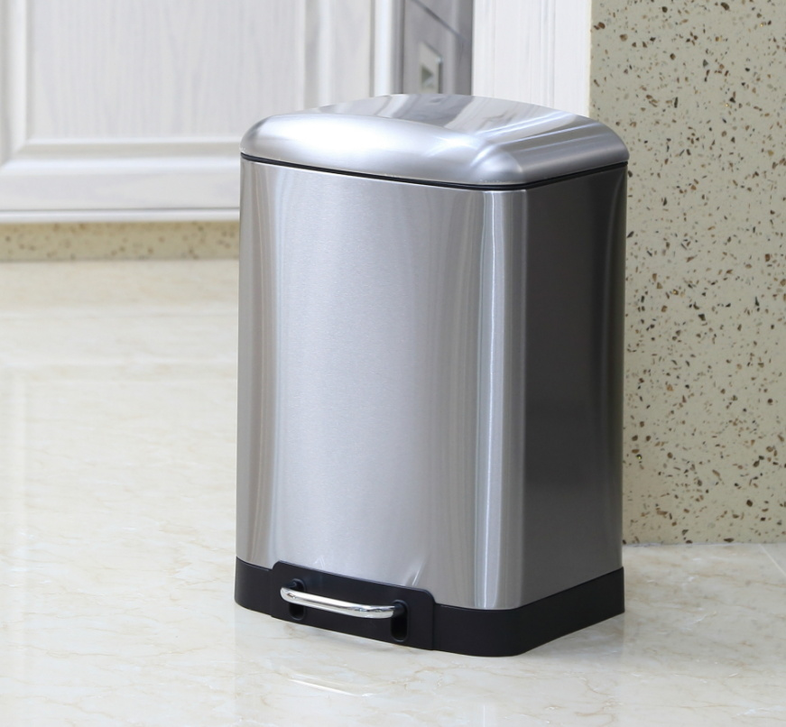 China Home Hotel Bathroom Stainless Steel Trash Can Dustbin Foot Pedal Bin China Trash Can And Dustbin Price
