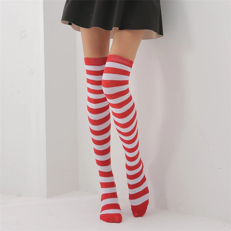 8cb631284 China Wholesale Sexy Girl Red and White Striped Cotton Over Knee Socks  Fashion Stockings Cheap Thigh High Stocking for Women - China Women Socks