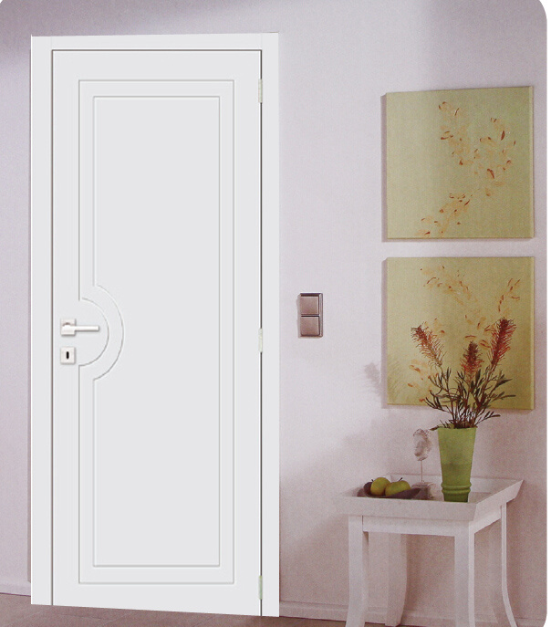 China Strong Room Door For House White Economical Painted Door