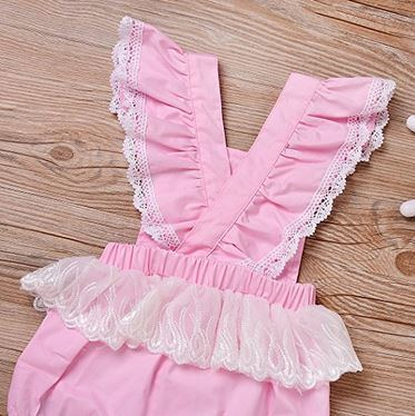 e4d3cf2dc China Cute Newborn Baby Girl Backless Ruffle Button Summer Romper ...