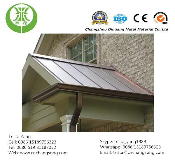 China Color Coated Aluminum Gutter Sheet China Gutter