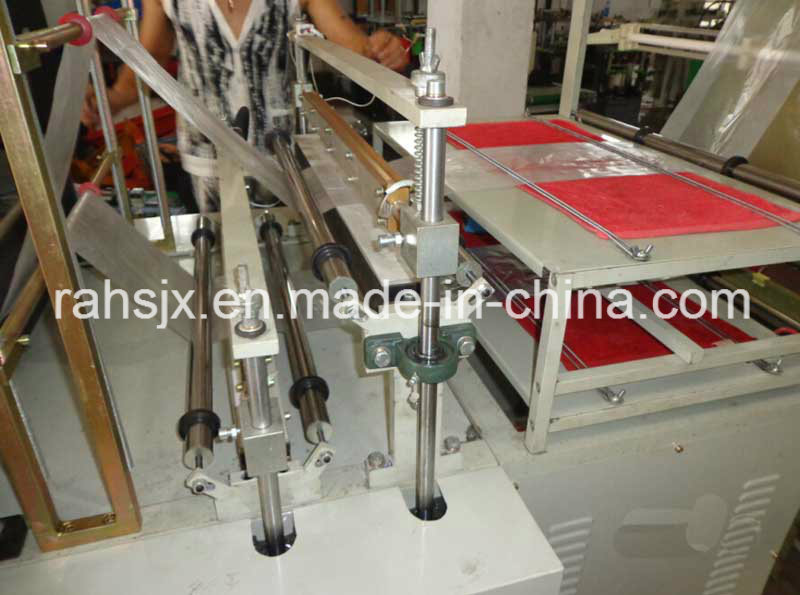 Double Layers Garbage Roll Flat Bag Making Machine (HSLJ-800)