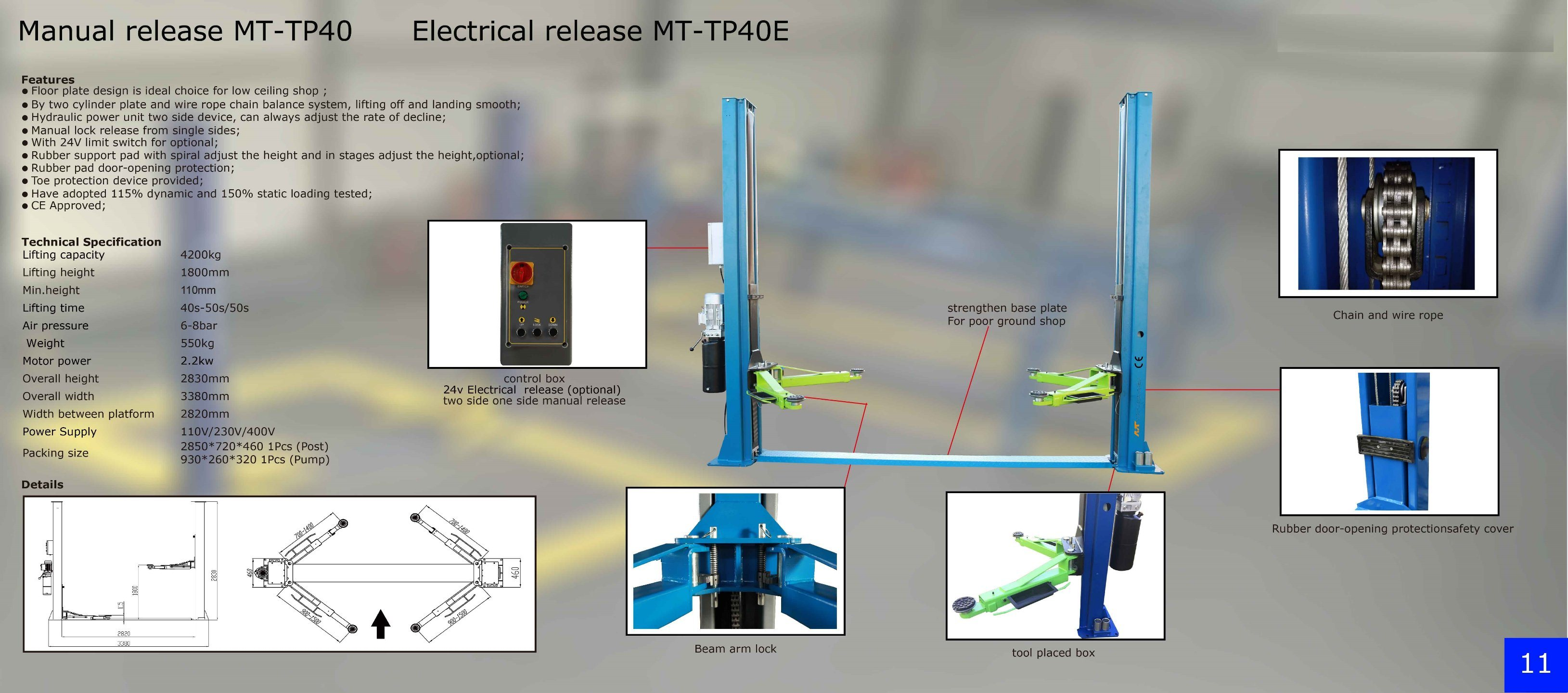 China 4t Manual Relaeas Two Post Hydraulic Car Lift Photos Schematic