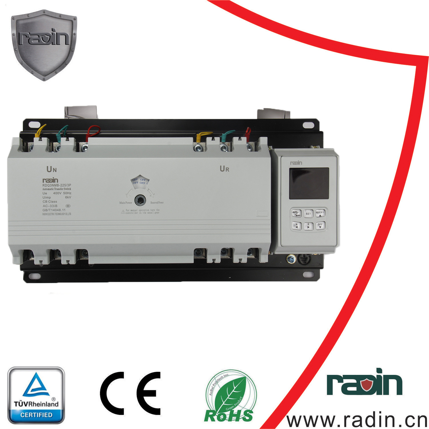 China Rdq3nmb 225 Double Power Automatic Transfer Switch Ats Dz47 100a Miniature Circuit Breaker Electronic And Digital Single Phase