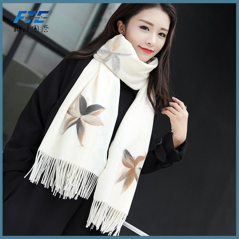 08b0dda56df [Hot Item] Cotton Scarf Women Silk Scarves Autumn Winter Shawl