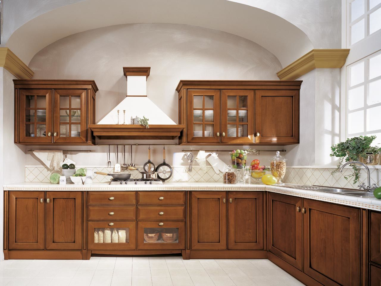 hardwood kitchen cabinets