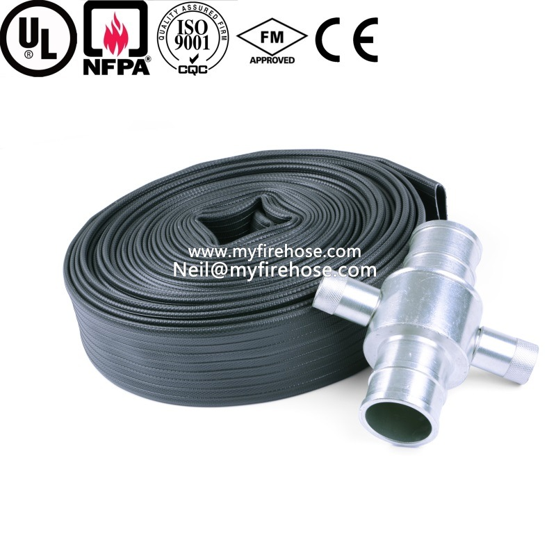 4 Inch Wear-Resisting Coated Nitrile Rubber Lined Fire Hose pictures & photos