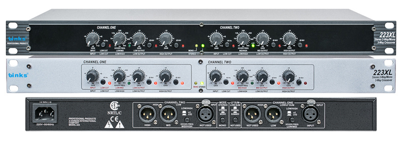 2/3 Way Professional Audio Cable Crossover Processor