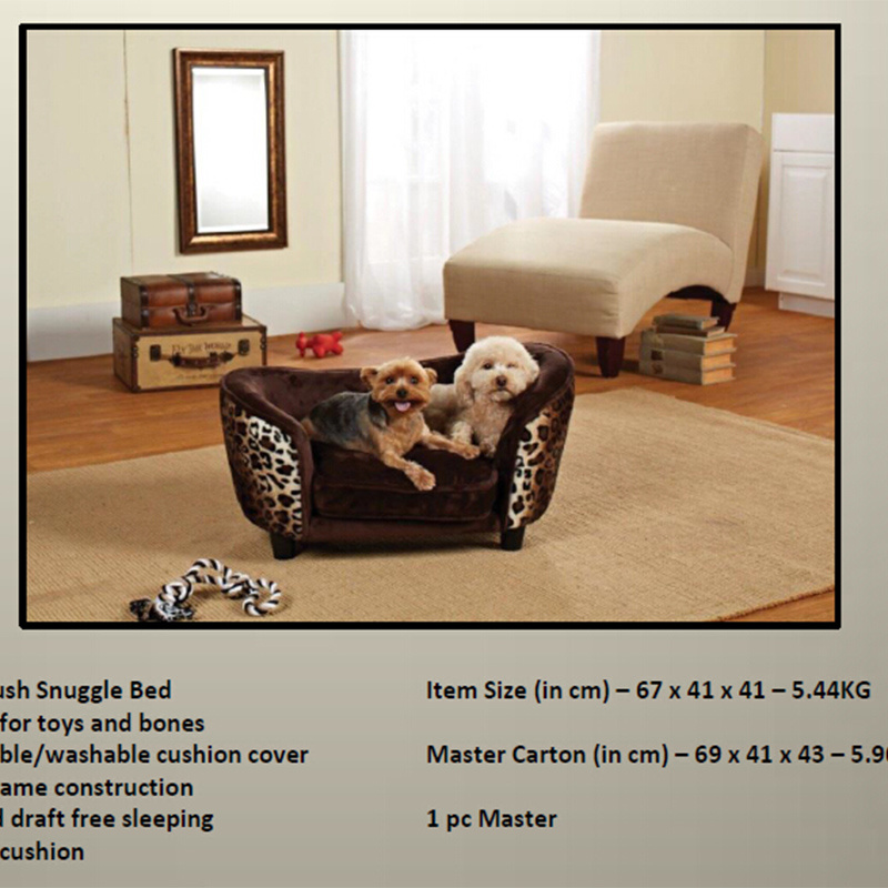 [Hot Item] 2016 New Design Luxury Leather Dog Sofa/ Pet Products