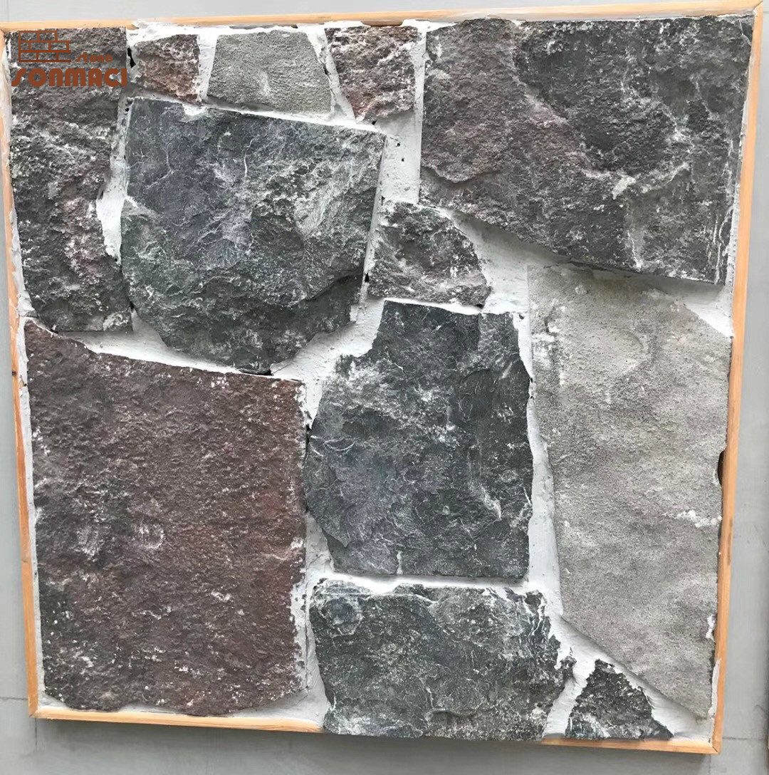 Hot Item Exterior Wall Decorative Slate Black Loose Stone Veneer