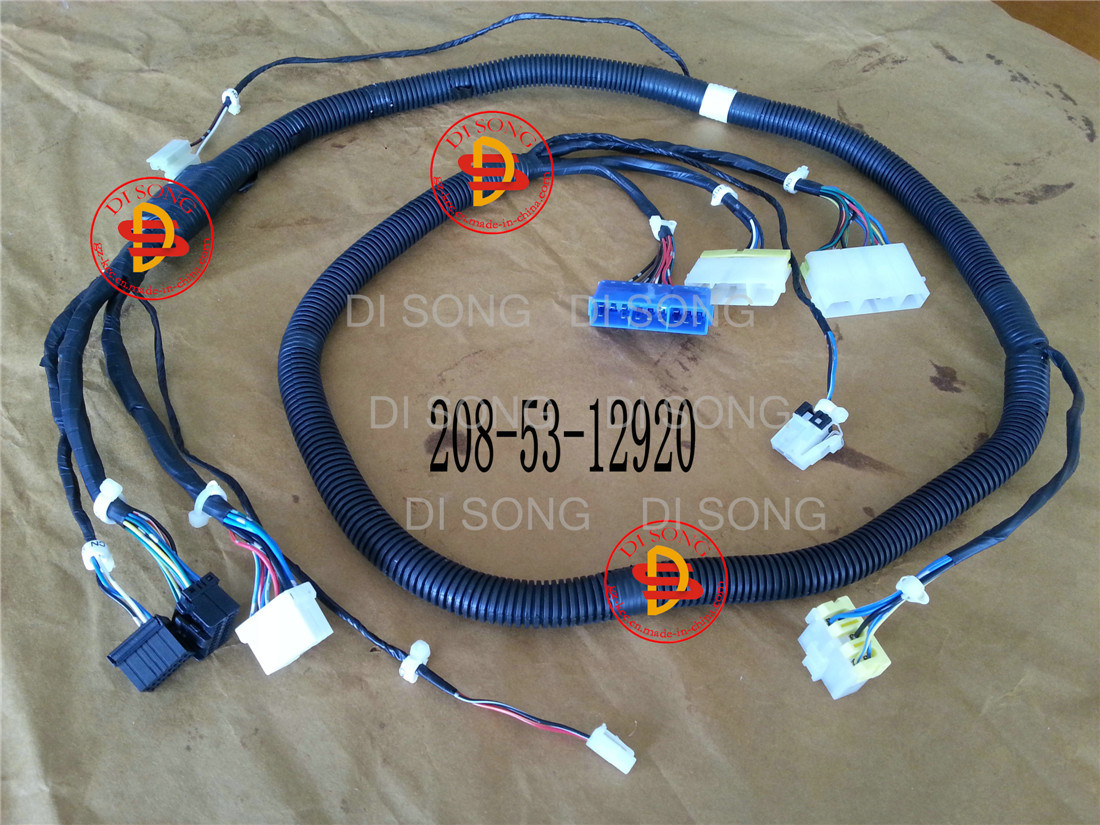 China Komatsu Excavator Spare Parts Engine For Wiring Harness 208 53 12920 Auto Spart