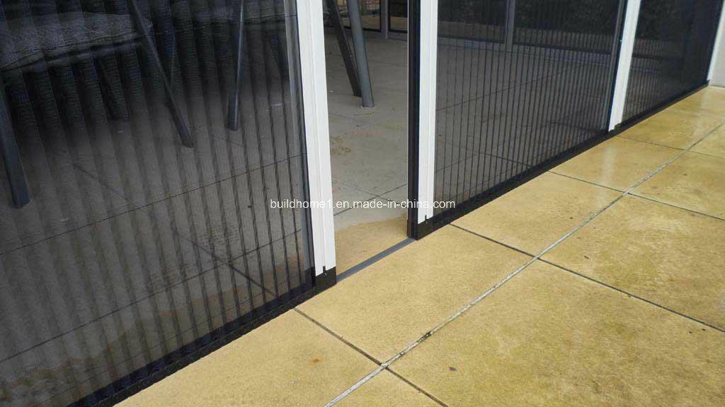 China aluminium frame fibreglass mesh horizontal for Retractable mosquito screen