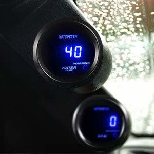 Celsius HOTSYSTEM Universal Water Temp Gauge Temperature Meter Blue Digital LED DC12V 2inches 52mm for Car Automotive