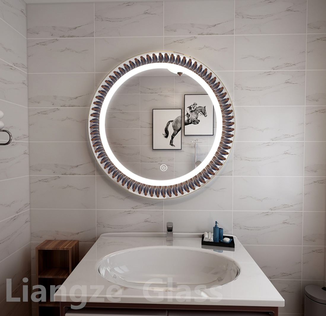 Led Light Wall Mount Mirror Illuminated Mirror Touch Screen Bathroom Mirror With Anti Fog China Led Bathroom Mirror Illuminated Bluetooth Mirror Made In China Com