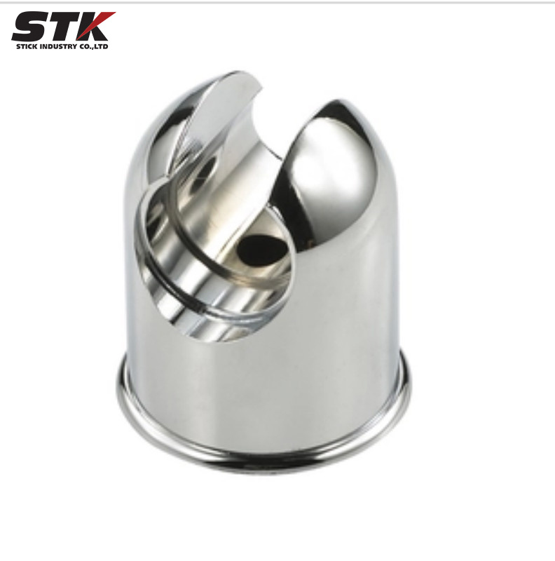 Zinc Alloy Die Casting Nickel Plating Shower Head Holder Bathroom Accessories Rotating Button (STK-ZDC-219) pictures & photos