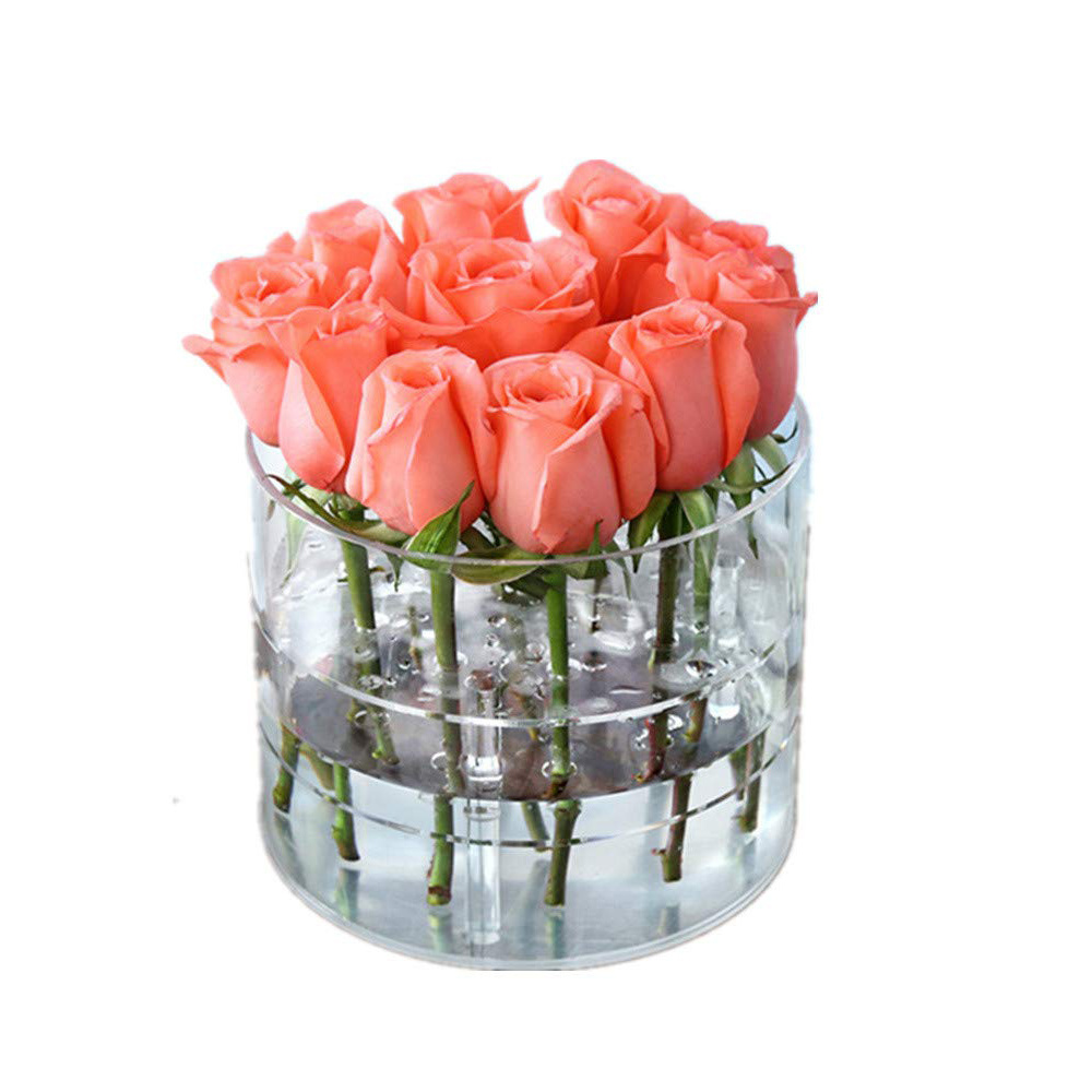 China Acrylic Flower Box Stand Rose Water Holder Organizer Pot Vase With Removable 2 Tiers Gift China Flower Box And Gift Box Price