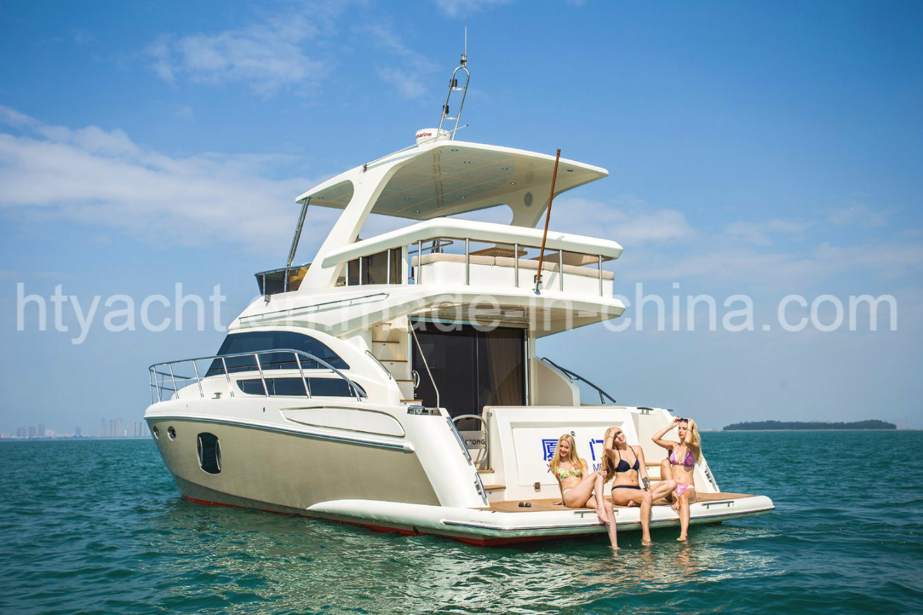 46′ Luxury Yacht Fiberglass Hangtong Borose 46 Factory-Direct Customizable