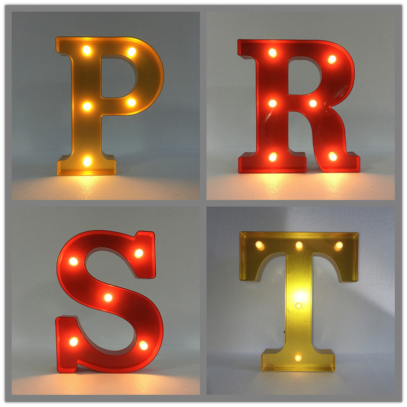 China Led Wall Letters Factory Price Marquee Letter Lights Crafts Decoration