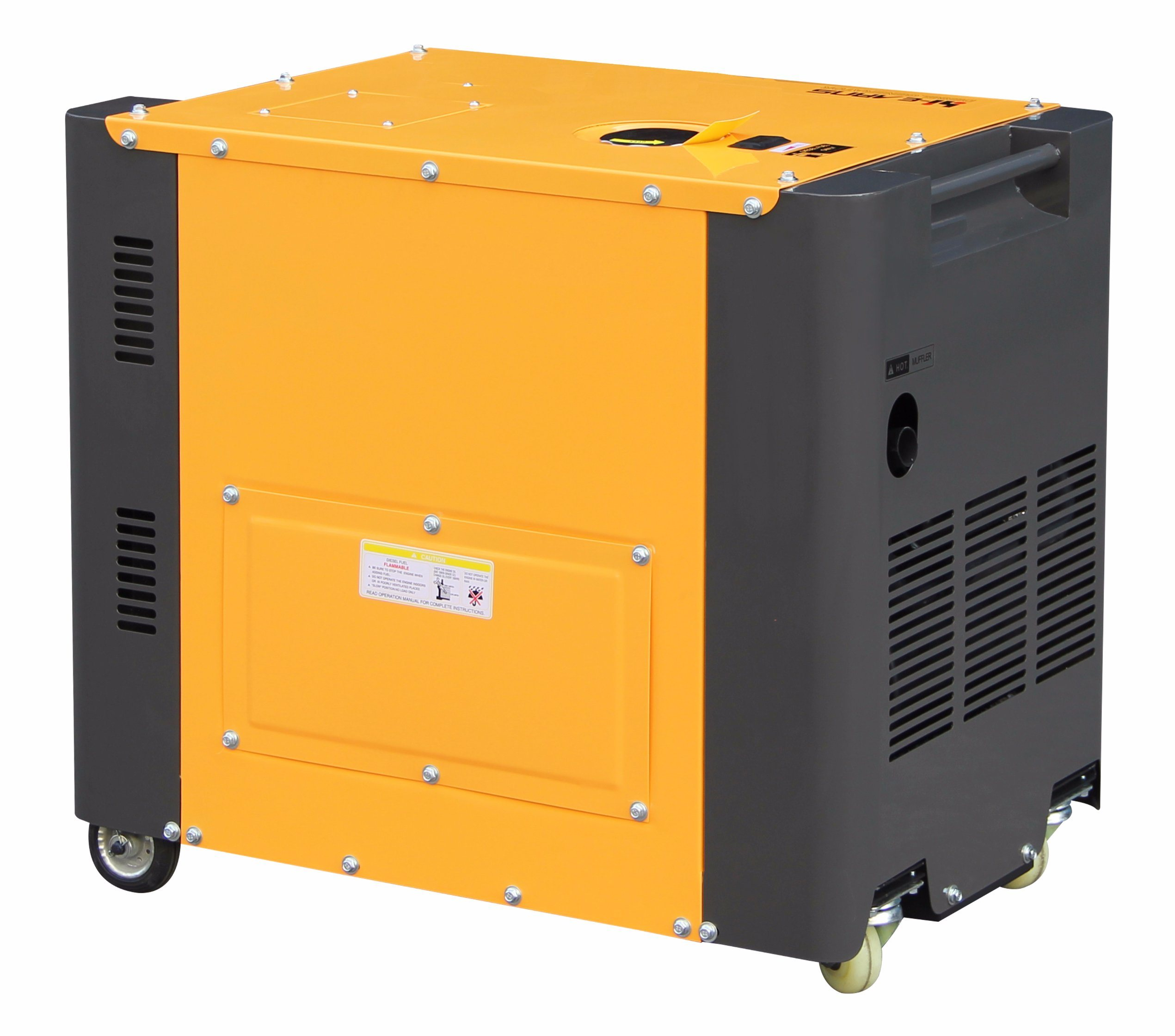 5kw Portable Air-Cooled Silent Diesel Generator pictures & photos