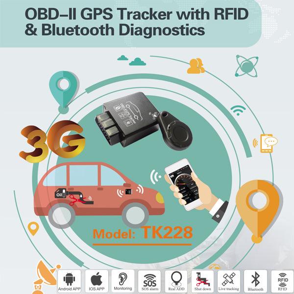[Hot Item] OBD2 GPS Tracker with Read Error Code Tk228-Ez