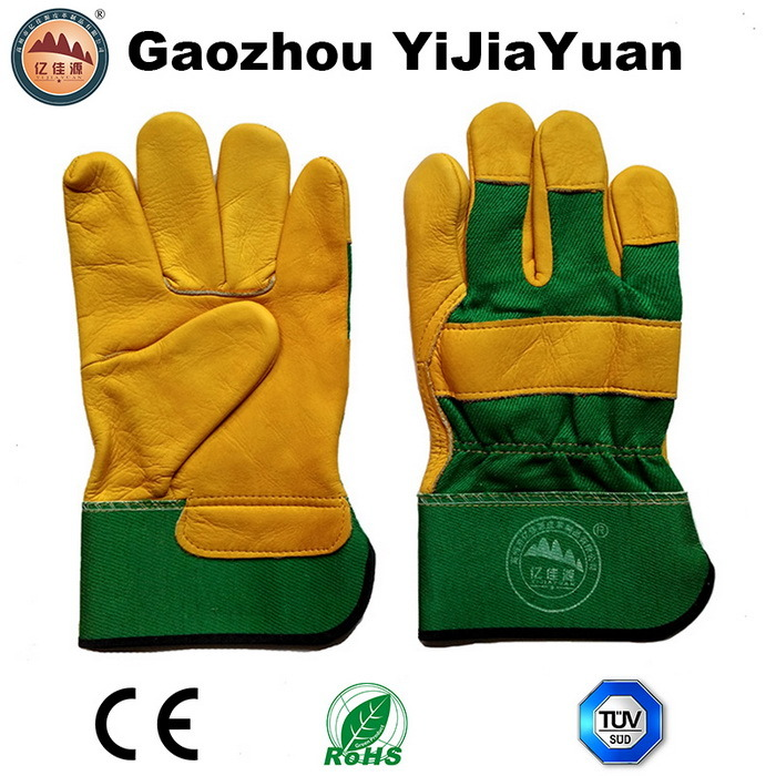 Ab Grade Golden Cow Grain Leather Work Driving Gloves pictures & photos