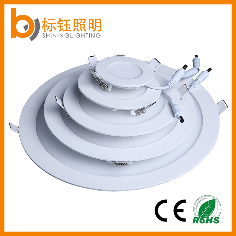 LED Light Round Ceiling Indoor Lighting 6W Slim Panel Lamp (Aluminum+Glass+Iron+Plastic)