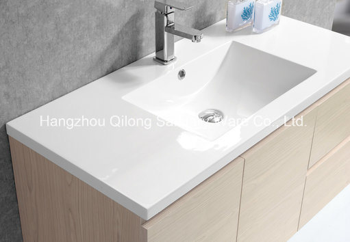 Hot Selling MDF Bathroom Cabinet with Ceramic Basin