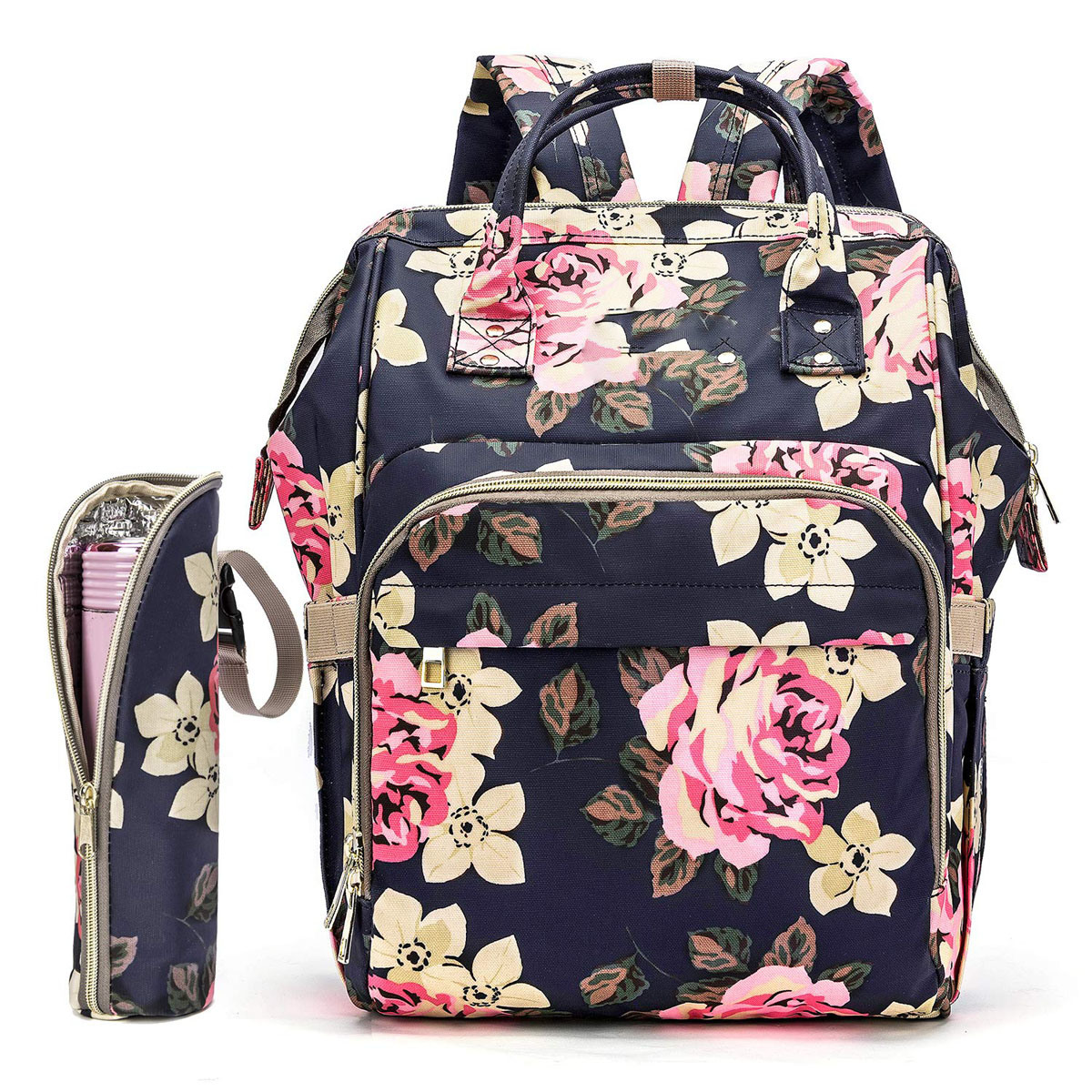 Hot Item Diaper Bag Backpack Fl Baby Water Resistant Ny With Insulated Bottle