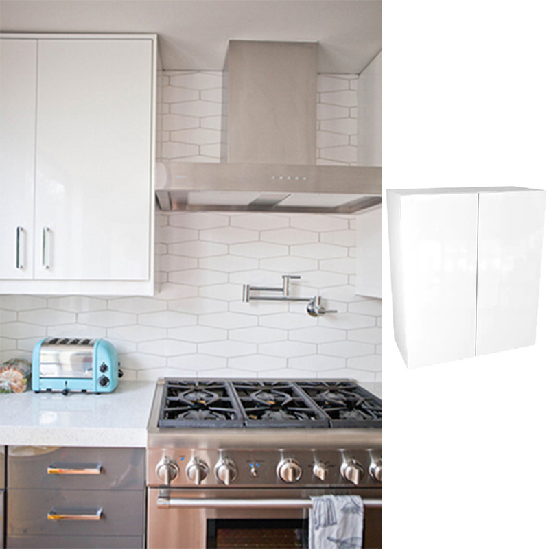 China Project Cam Lock Slab Refacing Kitchen Cabinets Door White Color Cheap Price China Furniture Cupboard