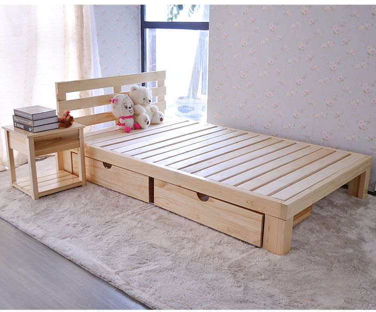China Wooden Single Bed Double Bed Children Bed H H095 China