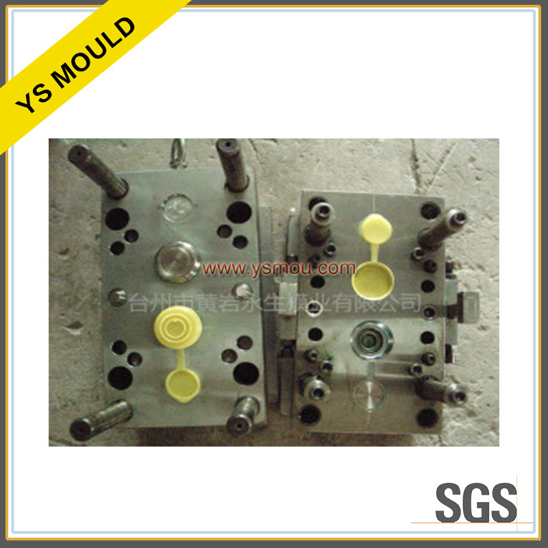 Plastic Yellow Oil Flip Cap Mould