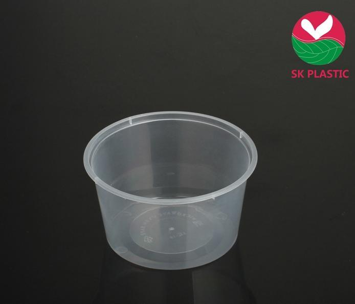 Round Disposable Plastic Food Container (SK-16)