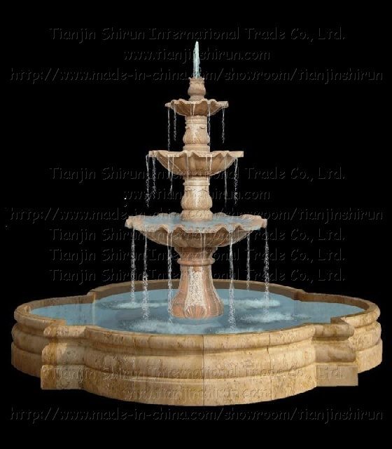 China Stone Marble Carving Water Fountain Xf399 China